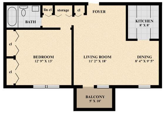 The Canterbury Apartment floor plan