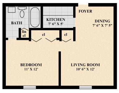 The Carrick Apartment (Junior) floor plan