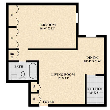The Cotswold Apartment (Junior) floor plan